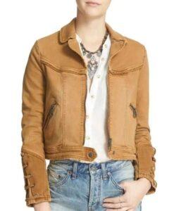 Feel Good Rosalind March Brown Denim Jacket Front