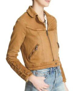 Feel Good Rosalind March Brown Denim Jacket Side