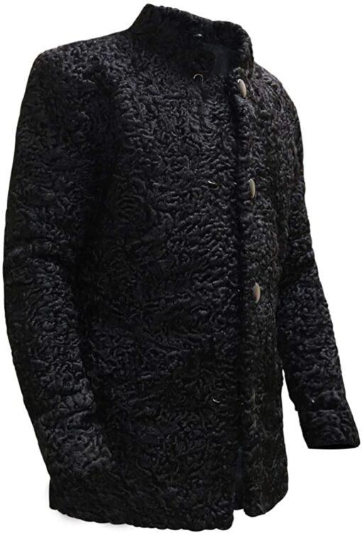 Genuine Persian Lamb Black Coat