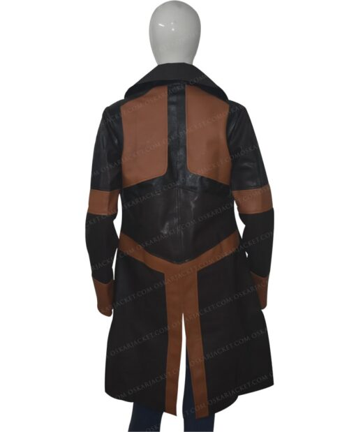 Guardians Of The Galaxy Vol 2 Gamora Brown Leather Coat Back