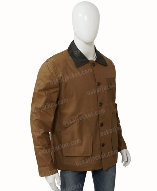 Heartland Jack Bartlett Cotton Brown Jacket Left