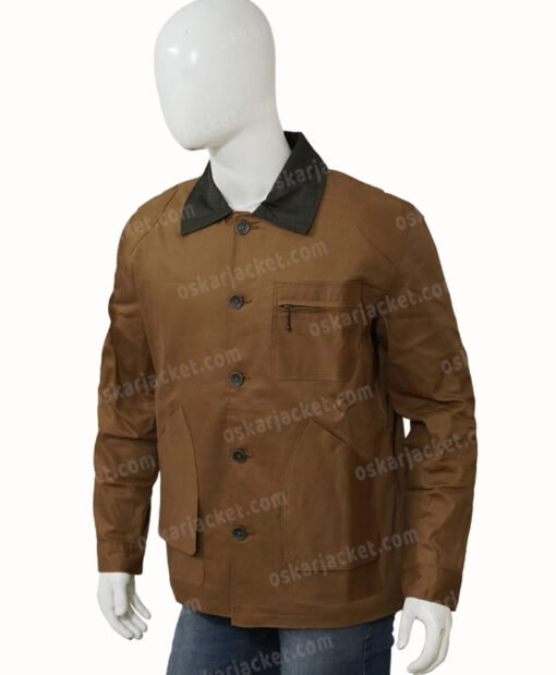 Heartland Jack Bartlett Cotton Brown Jacket Right