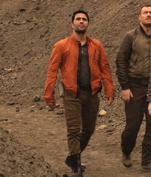Ignacio Serricchio Lost In Space Orange Cotton Jacket