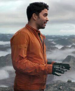 Ignacio Serricchio Lost In Space Orange Jacket