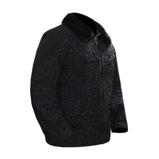 Karakul Lamb Fur Jacket Right Side