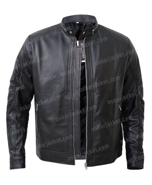 Kevin Pearson This Is Us Justin Black Biker Jacket Open Front