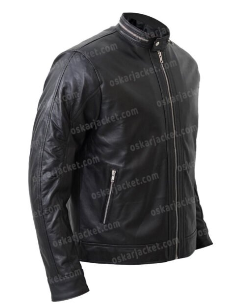 Kevin Pearson This Is Us Justin Black Leather Jacket Side