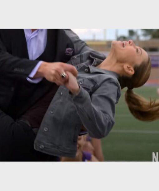 Lauren German TV Series Lucifer Chloe Decker Denim Grey Jacket