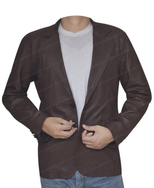 Leather Sheepskin Brown Coat