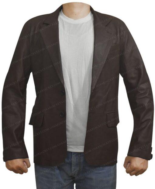 Leather Sheepskin Brown Coat Image