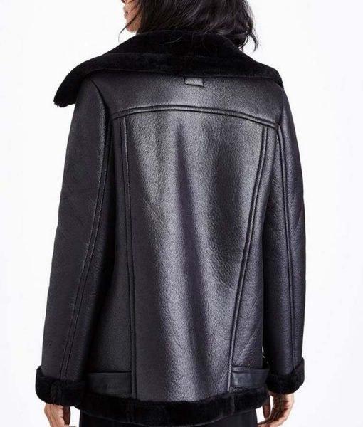 Locke and Key Dodge Black Leather Jacket Back