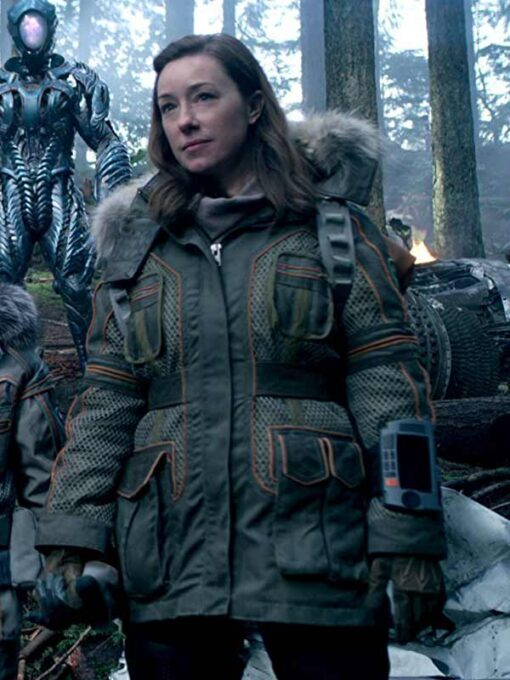 Lost In Space Molly Parker Green Hooded Jacket