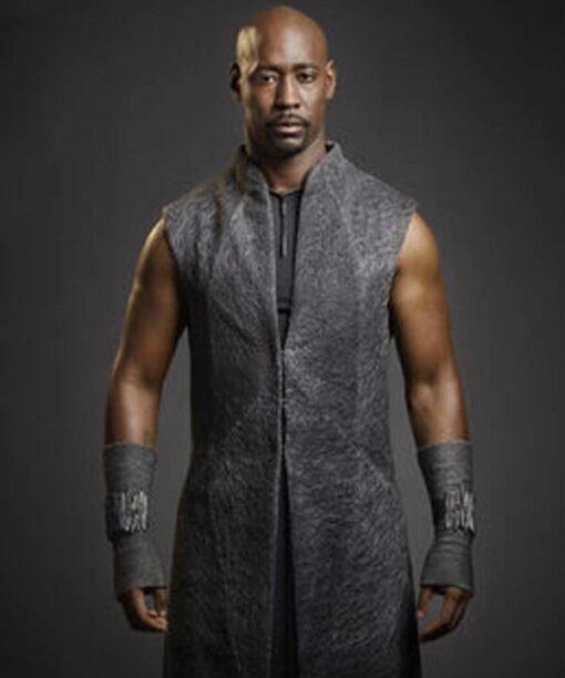 Lucifer Amenadiel Wool Blend Grey Long Coat