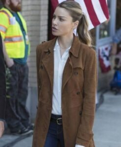 Lucifer Chloe Decker Brown Coat 1