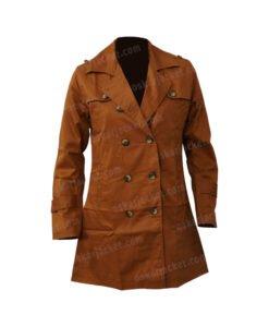 Lucifer Chloe Decker Brown Wool Coat