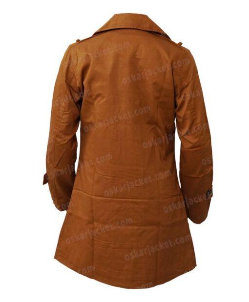 Lucifer Chloe Decker Brown Wool Coat Back
