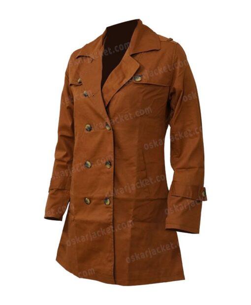 Lucifer Chloe Decker Brown Wool Coat Front