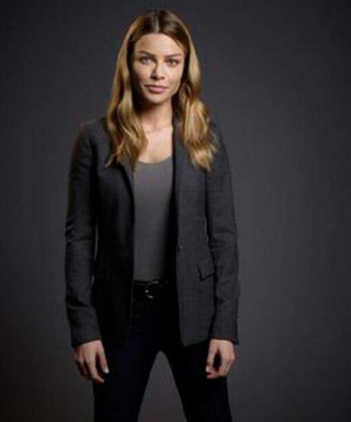 Lucifer Chloe Decker Wool Blend Grey Blazer