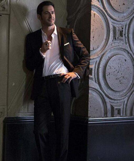 Lucifer Morningstar Tom Ellis Black Suit Coat