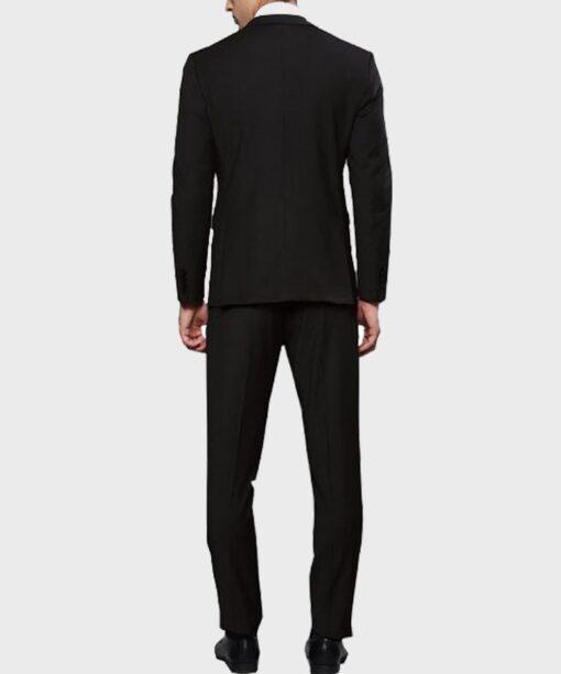 Lucifer Morningstar Tom Ellis Black Suit Coat Back