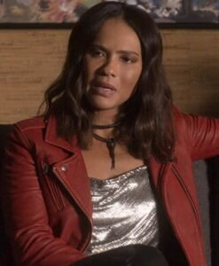 Lucifer Season 1 Mazikeen Red Leather Jacket 1