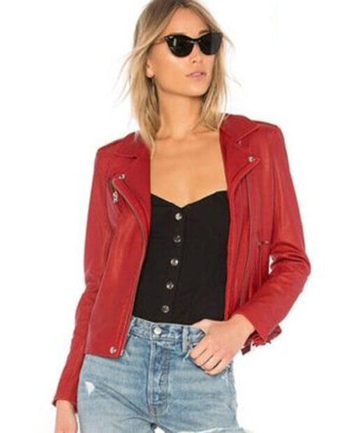 Lucifer Season 1 Mazikeen Red Leather Jacket 2