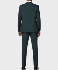 Lucifer Tom Ellis Morningstar Green Suit Coat Back