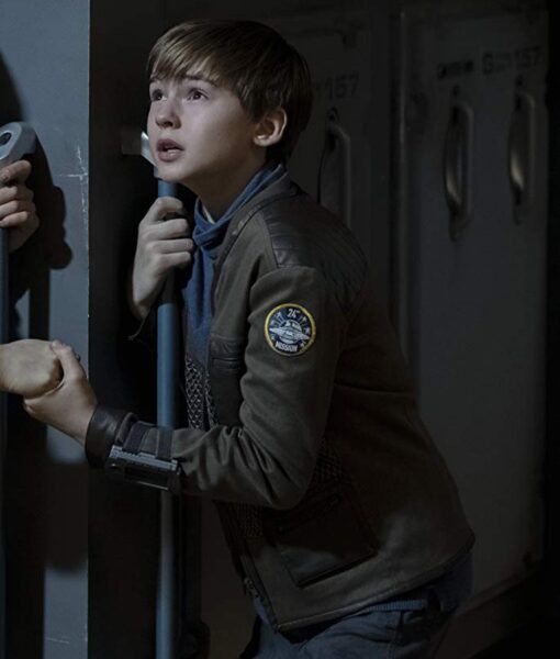 Maxwell Jenkins Lost In Space Brown Jacket