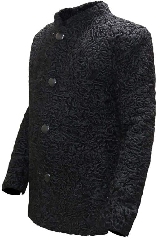 Men Persian Lamb Black Coat
