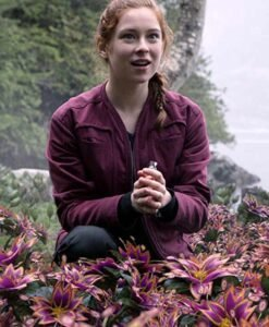 Mina Sundwall Lost In Space Red Jacket
