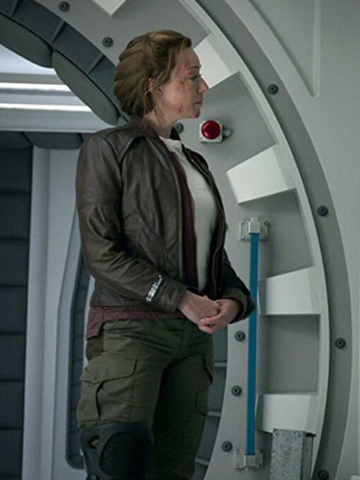 Molly Parker Lost in Space Brown Jacket