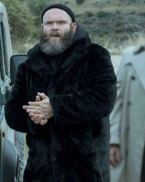 Money Heist Helsinki Shearling Black Hooded Coat