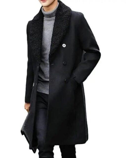 Money Heist S05 Berlin Black Wool Coat