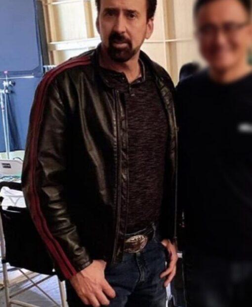 Nicolas Cage Willy's Wonderland Black Jacket Side