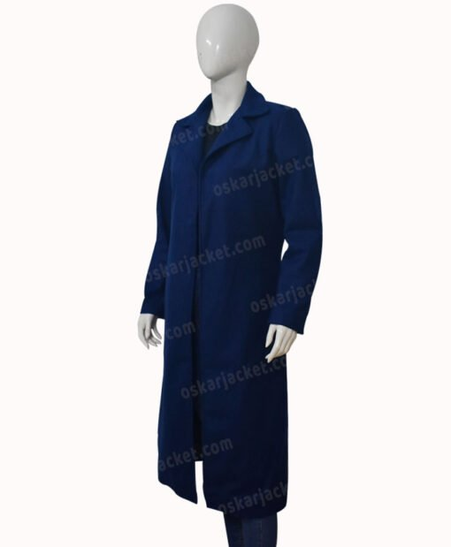 Nicole Kidman The Undoing Blue Trench Coat Left