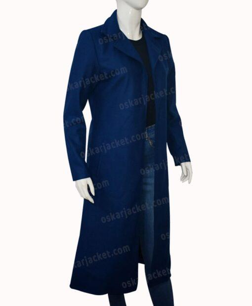 Nicole Kidman The Undoing Blue Trench Coat Right