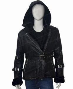 Once Upon a Time Emma Swan Black Jacket Front