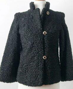 Persian Black Lamb Fur Coat