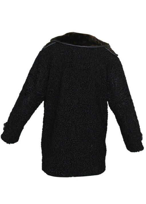 Persian Lamb Coat With Fur Collar Back