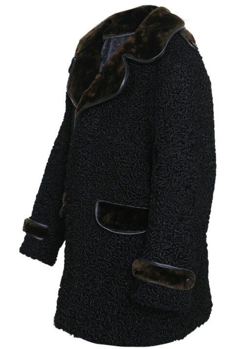 Persian Lamb Coat With Fur Collar Left Side