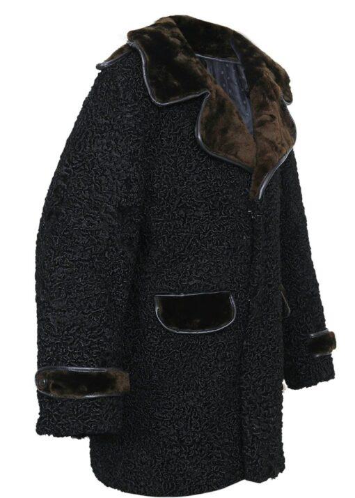 Persian Lamb Coat With Fur Collar Right Side