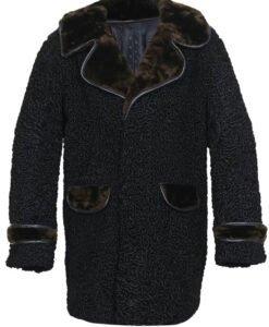 Persian Lamb Coat With Sheep Fur Collar