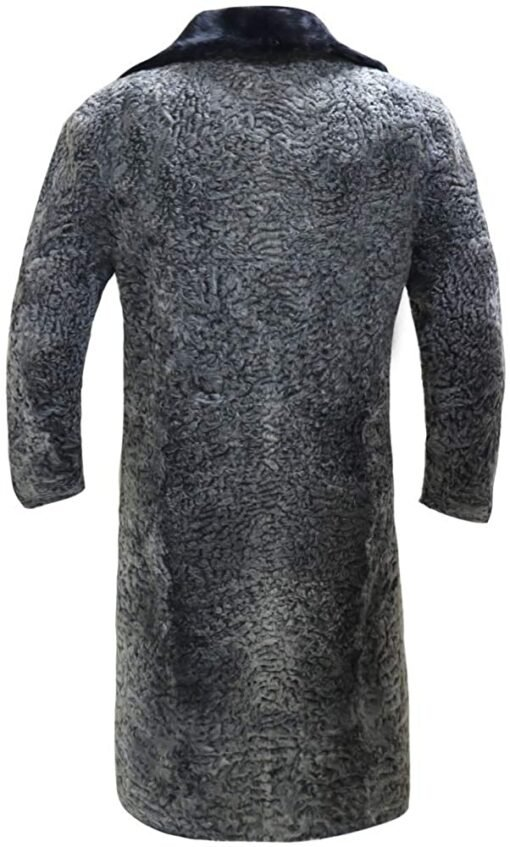 Persian Lamb Fur Coat Original Mink Collar