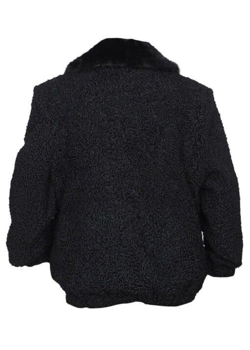 Persian Lamb Fur Sawarka Coat Back Side