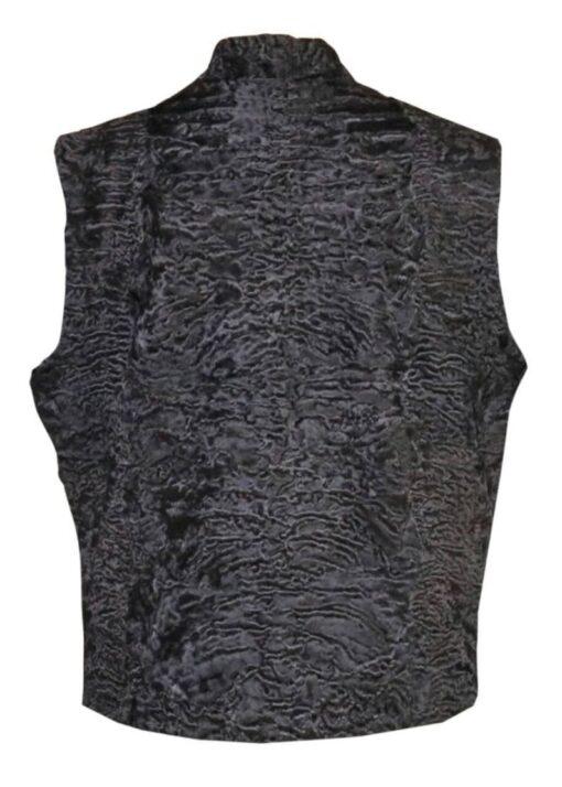 Persian Lamb Fur Vest Waistcoat Back