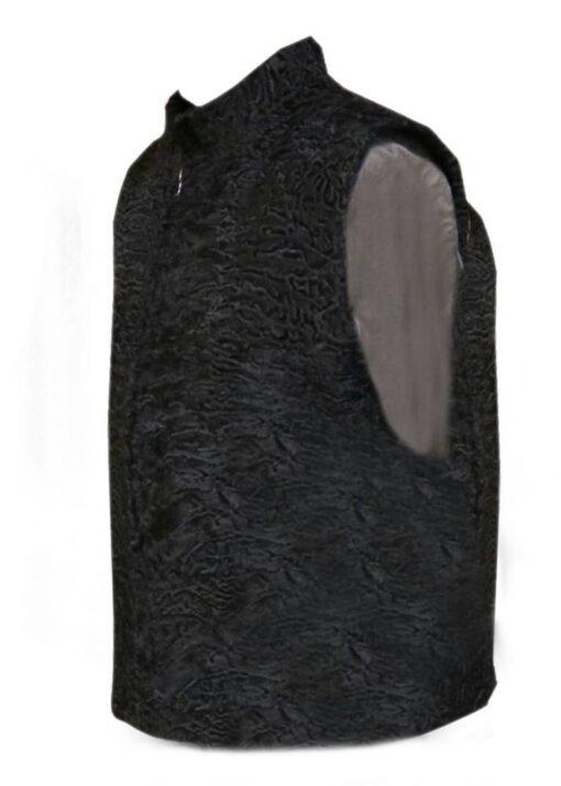 Persian Lamb Fur Vest Waistcoat Side Image