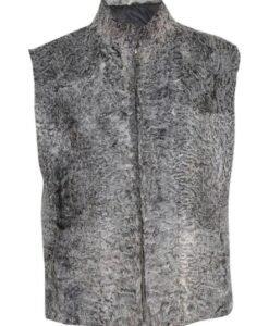 Persian Lamb Grey Fur Vest