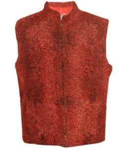 Persian Lamb Sawarka Red Fur Waistcoat