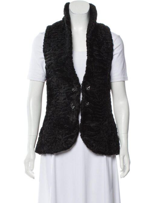 Persian Lamb Shawl Lapel Fur Waistcoat