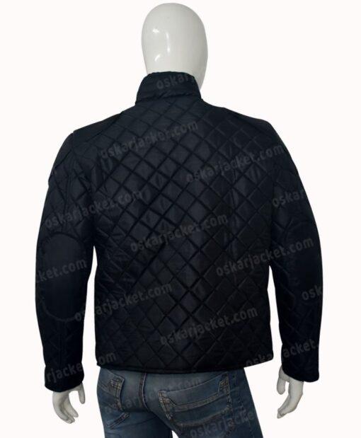 Rokk Krinn Smallville Cosmic Boy Quilted Black Jacket BAck